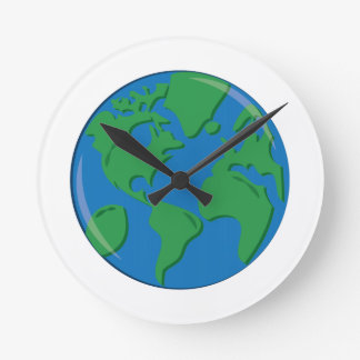 Tierra del planeta reloj de pared