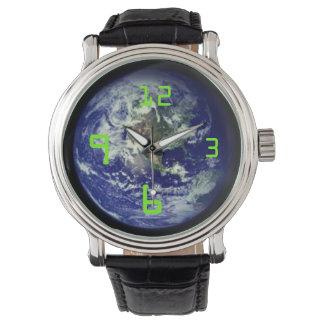 tierra del planeta relojes