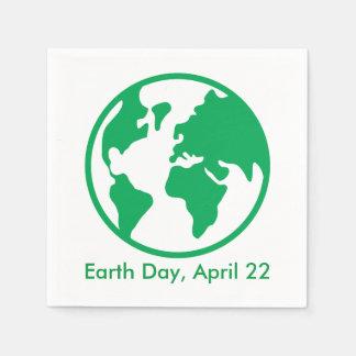 Tierra del planeta servilletas de papel