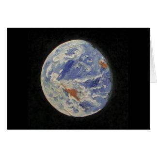 Tierra del planeta tarjeta de felicitación