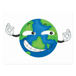 tierra del planeta postal