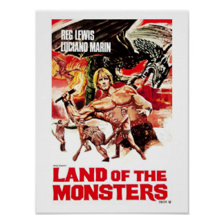 Tierra del poster de los monstruos