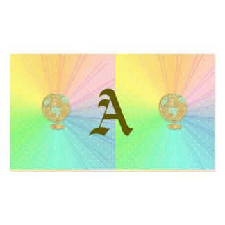Tierra hermosa, colores oro en colores pastel, tarjetas de visita