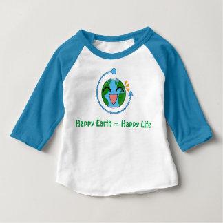 Tierra linda - camisa del raglán de los niños