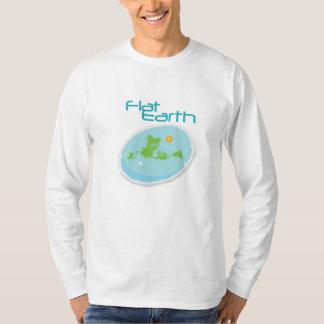 Tierra plana -- 1 anguloso camiseta