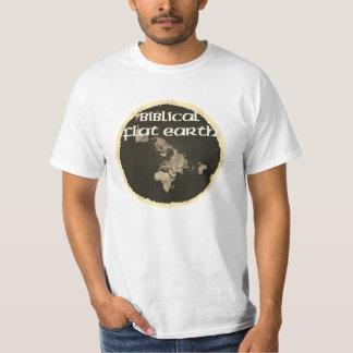 Tierra plana bíblica camiseta