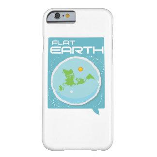 Tierra plana -- iPhone cuadrado moderno Funda Barely There iPhone 6