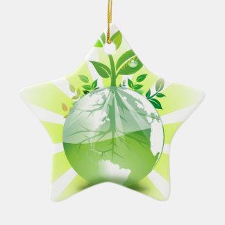Tierra verde adorno de cerámica