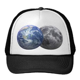 Tierra y luna - efecto 3D Gorro De Camionero