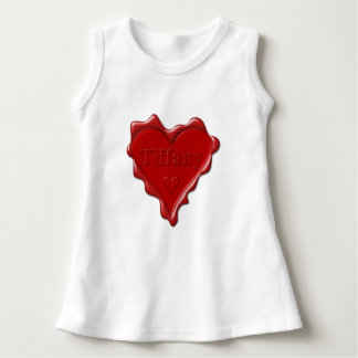 Tiffany. Sello rojo de la cera del corazón con Vestido