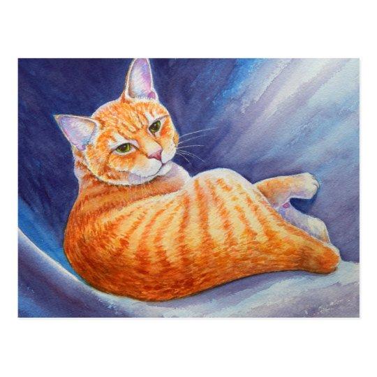 Tigg el gato de Tabby anaranjado Postal