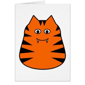 Tigr - tarjeta de felicitaciones linda del tigre