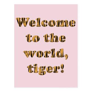 ¡Tigre agradable! - Postal de Tigerprint para un