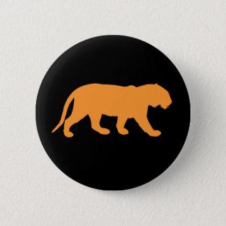 Tigre anaranjado chapa redonda de 5 cm
