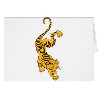 Tigre anaranjado tarjeta de felicitación