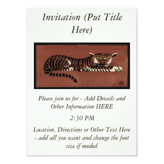 Tigre - anticuario, ejemplo de libro colorido invitacion personalizada