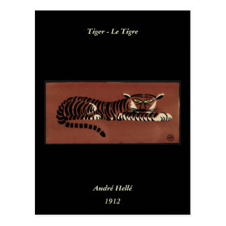 Tigre - anticuario, ejemplo de libro colorido postal