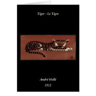 Tigre - anticuario ejemplo de libro colorido felicitacion