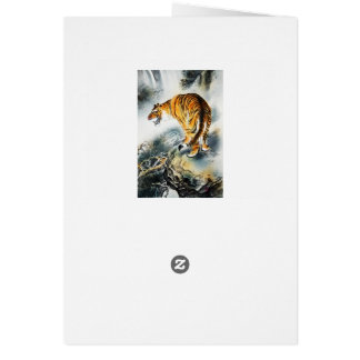 Tigre asiático tarjeta de felicitación