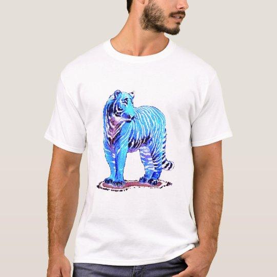Tigre azul camiseta