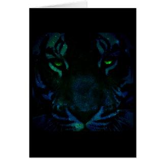 Tigre azul tarjeta de felicitación