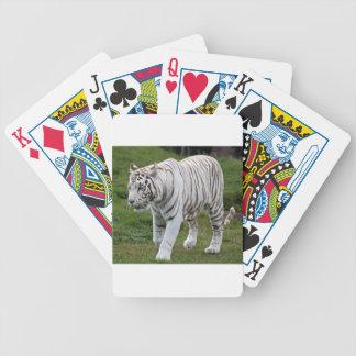 Tigre blanco baraja de cartas bicycle