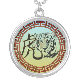 Tigre chino colgante redondo