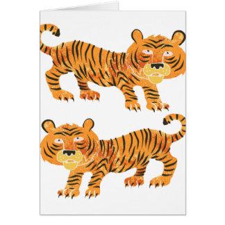 tigre chino tarjeta de felicitación