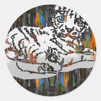 Tigre de bebé pegatina redonda