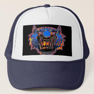 Tigre de Bengala salvaje en gorra de béisbol de