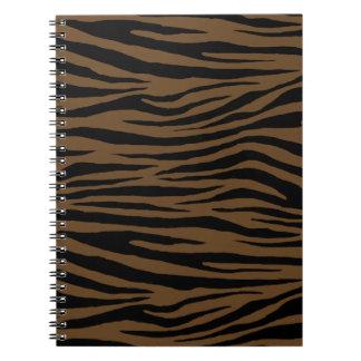 Tigre de Brown de la nutria Cuaderno