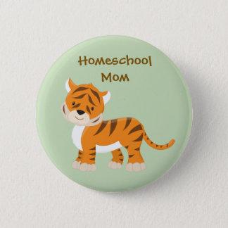 Tigre de la mamá de Homeschool Chapa Redonda De 5 Cm