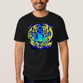 Tigre de la turquesa camiseta