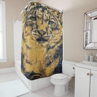 tigre de oro cortina de baño