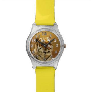 Tigre de oro reloj