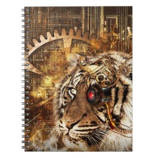 Tigre de Steampunk Cuaderno