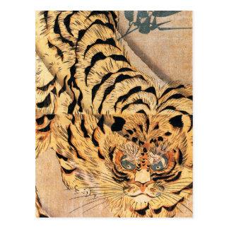 Tigre de Utagawa Kuniyoshi Postal