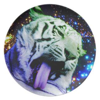 Tigre del arco iris plato