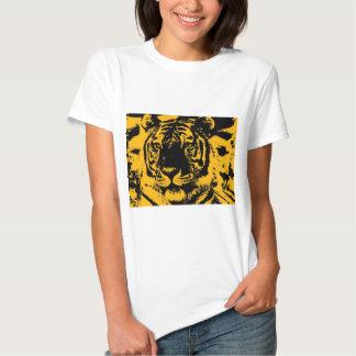 Tigre del arte pop camisetas
