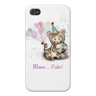 Tigre del cumpleaños iPhone 4 carcasa