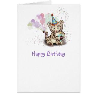 Tigre del cumpleaños tarjeta de felicitación