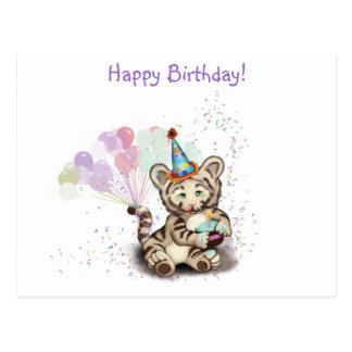 Tigre del cumpleaños postal