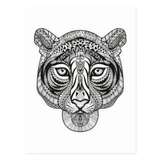 Tigre del estilo postal