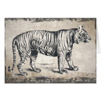 Tigre del feliz cumpleaños, tarjeta de cumpleaños