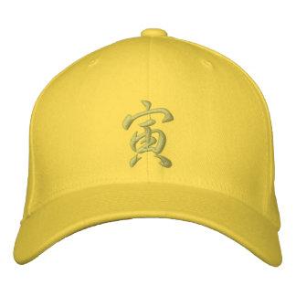 Tigre del gorra del zodiaco del kanji gorra de beisbol bordada