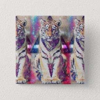 Tigre del inconformista - arte del tigre - tigre chapa cuadrada