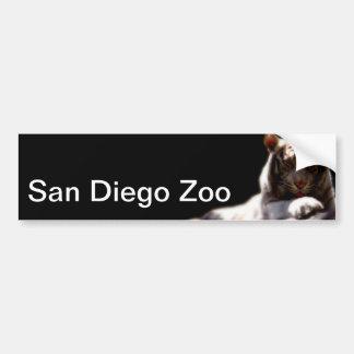 Tigre del parque zoológico de San Diego Pegatina Para Coche