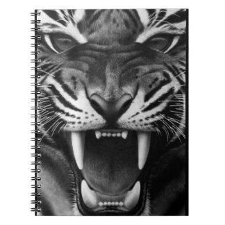 Tigre del rugido cuaderno