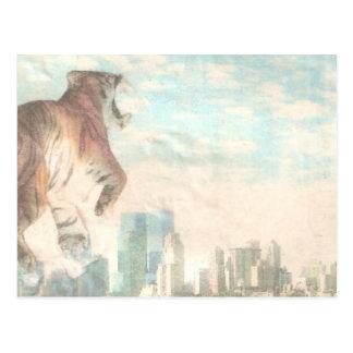Tigre del tigre que quema brillante tarjetas postales