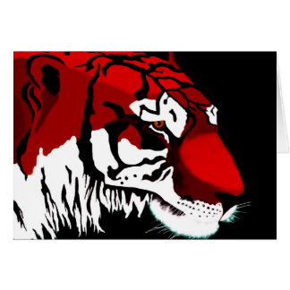 Tigre del tigre tarjeta de felicitación
